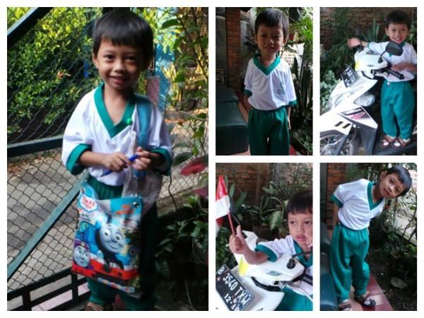 Kai bersiap ke sekolah :)